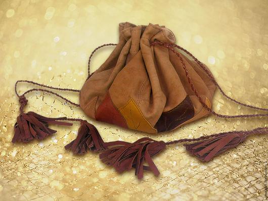 """Женские сумки ручной работы. Ярмарка Мастеров - ручная работа. Купить Сумочка """"Осенние листья"""". Handmade. Бежевый, коричневый"""