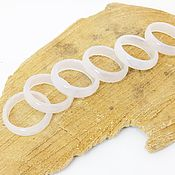 Украшения handmade. Livemaster - original item White chalcedony ring with 17.5 p-R cut. Handmade.