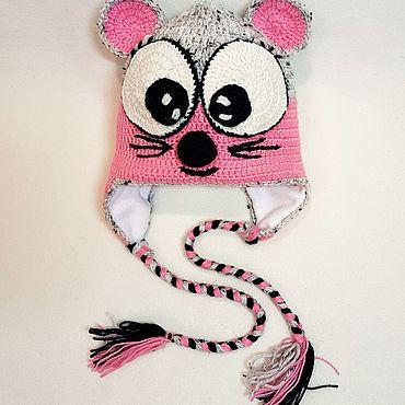 """Одежда ручной работы. Ярмарка Мастеров - ручная работа Шапки: Шапка """"Мышка"""" на флисе.. Handmade."""