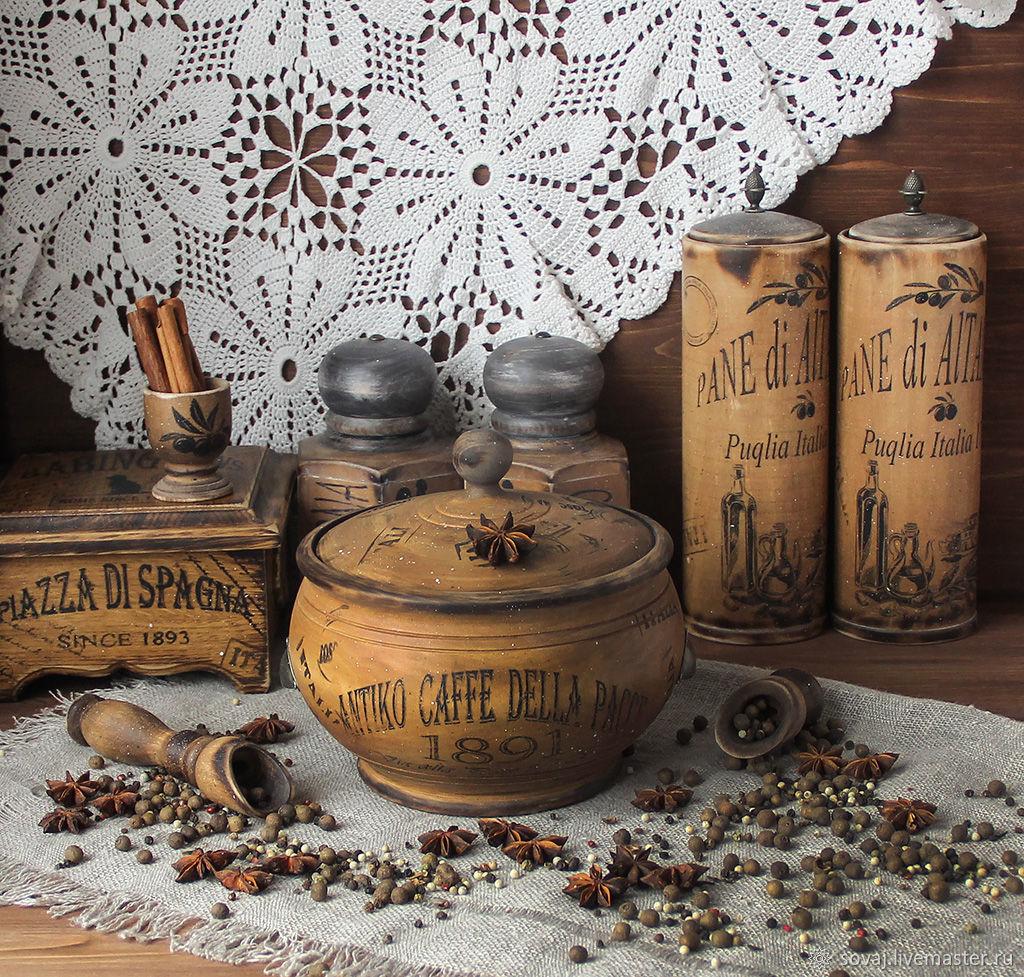 A big pot of lime ' Аntico caffe della pace ', Jars, ,  Фото №1