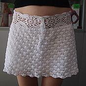 Одежда ручной работы. Ярмарка Мастеров - ручная работа Легкая вязанная юбка на лето (продано). Handmade.