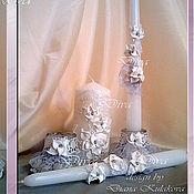 """Свадебный салон ручной работы. Ярмарка Мастеров - ручная работа Свадебные свечи """"Мерцание"""". Handmade."""