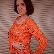 """Одежда ручной работы. Ярмарка Мастеров - ручная работа Кофточка """"Оранжевое чудо-2"""". Handmade."""