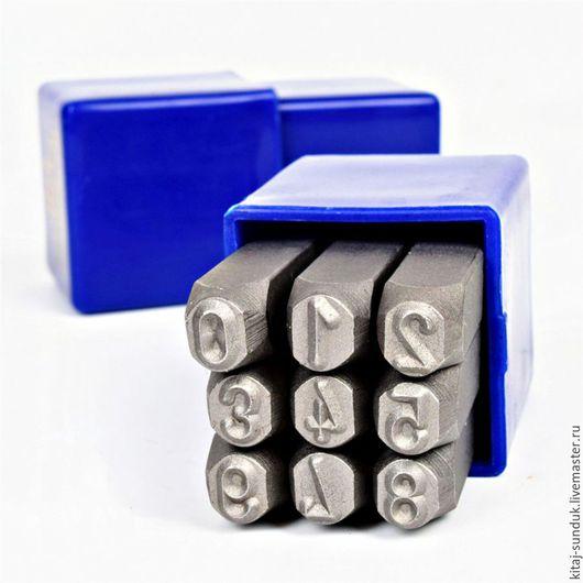 Другие виды рукоделия ручной работы. Ярмарка Мастеров - ручная работа. Купить Штампы для тиснения Цифры 3-10 мм. Handmade.