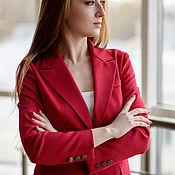 Одежда handmade. Livemaster - original item SCARLET TROUSER SUIT Classic Red. Handmade.