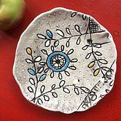 Посуда ручной работы. Ярмарка Мастеров - ручная работа Тарелки с рельефным рисунком для печенья, конфет, фруктов и т. д.. Handmade.