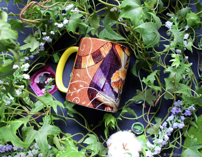 Mug author 'Puffinus' Harry Potter yellow, Mugs and cups, Elektrostal,  Фото №1