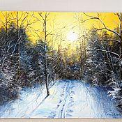 Картины и панно handmade. Livemaster - original item 24 oil Painting landscape Winter Tishina Vladimir Chernov. Handmade.