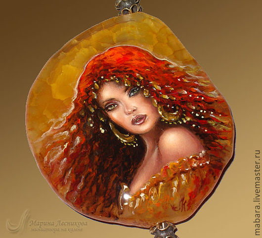 """Кулоны, подвески ручной работы. Ярмарка Мастеров - ручная работа. Купить Кулон-колье """"Саламандра"""". Handmade. Рыжий, натуральный камень"""