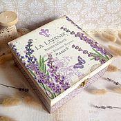Для дома и интерьера ручной работы. Ярмарка Мастеров - ручная работа La lavande - чайная шкатулка. Handmade.