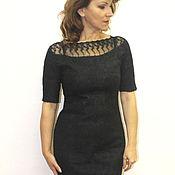 Одежда handmade. Livemaster - original item Little black dress - felt. Handmade.