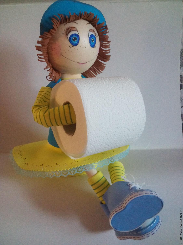 Вязаный держатель для туалетной бумаги своими руками