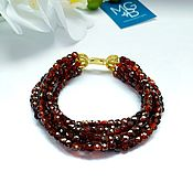 Украшения handmade. Livemaster - original item Garnet bracelet made of spessartin. Handmade.