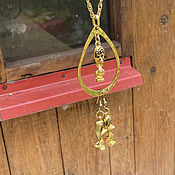 Винтаж handmade. Livemaster - original item The bird-talker! Fantasy-themed necklace and earrings.. Handmade.