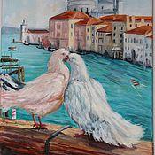 Картины и панно ручной работы. Ярмарка Мастеров - ручная работа Авторская картина  - Двое в Венеции. Handmade.