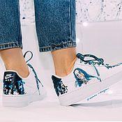 Обувь ручной работы handmade. Livemaster - original item Billy Irish Sneakers. Custom Nike air Force 1 sneakers. Handmade.