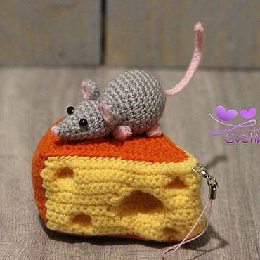 Куклы и игрушки ручной работы. Ярмарка Мастеров - ручная работа Мышка на сыре.. Handmade.