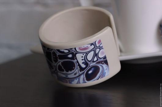 Браслеты ручной работы. Ярмарка Мастеров - ручная работа. Купить Браслет из полимерной глины. Handmade. Фиолетовый, подарок на новый год