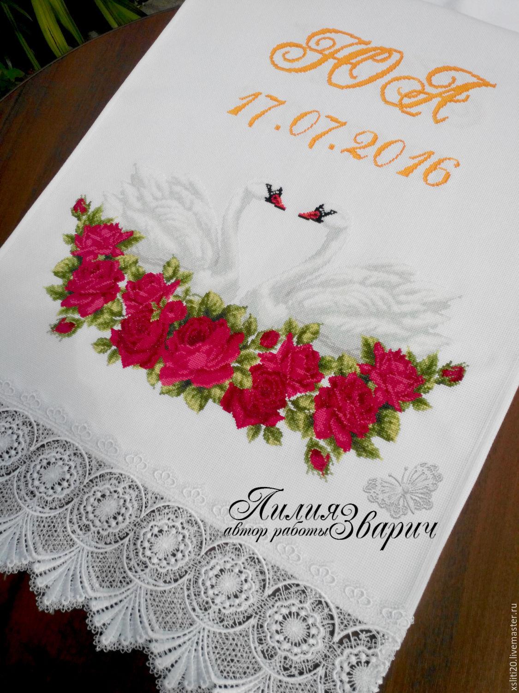 Вышивка свадебные розы