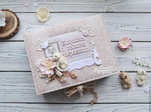 Подарки для новорожденных, ручной работы. Ярмарка Мастеров - ручная работа. Купить Мамины сокровища для Валерии. Handmade. Бледно-розовый