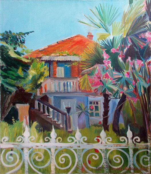 Картина. Абхазия. Старый дом работа Ольги Петровской-Петовраджи