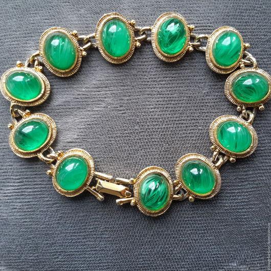 Винтажные украшения. Ярмарка Мастеров - ручная работа. Купить Weiss браслет винтаж 1950-х годов. Handmade. Зеленый