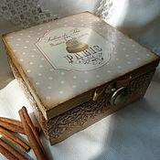 """Для дома и интерьера ручной работы. Ярмарка Мастеров - ручная работа Шкатулка для чая """"Бланманже"""". Handmade."""