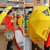 Аксессуары ручной работы. Ярмарка Мастеров - ручная работа зонт Тоторо и друзья. Handmade.