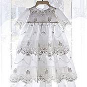 Работы для детей, ручной работы. Ярмарка Мастеров - ручная работа Крестильное платье Воздушное.Наряд для крещения.. Handmade.