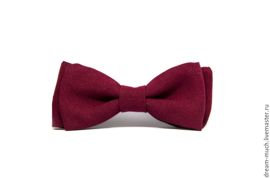 Bow tie solid Burgundy, Ties, Moscow,  Фото №1