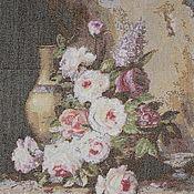 """Картины и панно ручной работы. Ярмарка Мастеров - ручная работа Вышитая картина """"Мраморные розы"""". Handmade."""