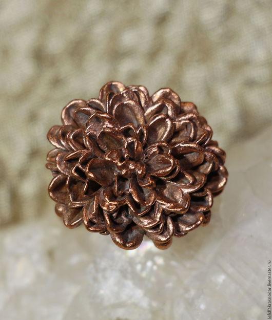 """Кольца ручной работы. Ярмарка Мастеров - ручная работа. Купить кольцо """"Запоздавшие Хризантемы"""". Handmade. Цветы, украшения ручной работы"""