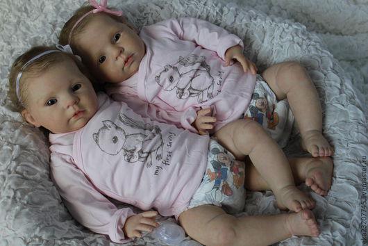Куклы-младенцы и reborn ручной работы. Ярмарка Мастеров - ручная работа. Купить Сестренки Диана и Мариша. Handmade. Бежевый