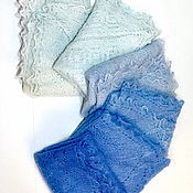Аксессуары handmade. Livemaster - original item Downy shawl blue, light blue, azure. Handmade.