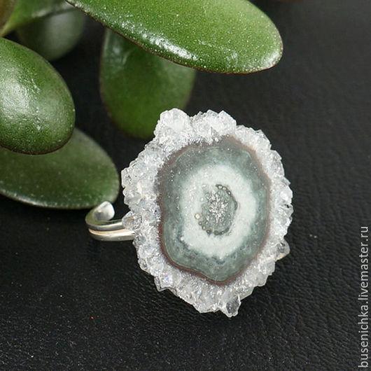 Кольца ручной работы. Ярмарка Мастеров - ручная работа. Купить Кольцо Аметистовый / кварцевый сталактит №9 (серебро 925). Handmade.