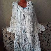 Одежда handmade. Livemaster - original item Knitted boho cardigan with fringe