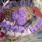 """Украшения ручной работы. Ярмарка Мастеров - ручная работа Браслет -манжета """"Violet rose"""". Handmade."""