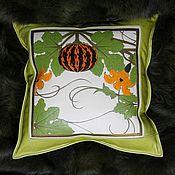 Аксессуары handmade. Livemaster - original item PUMPKIN cushion leather. Handmade.