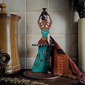 """Салфетницы ручной работы. Ярмарка Мастеров - ручная работа Салфетница """"Девушка с кувшином"""". Handmade."""
