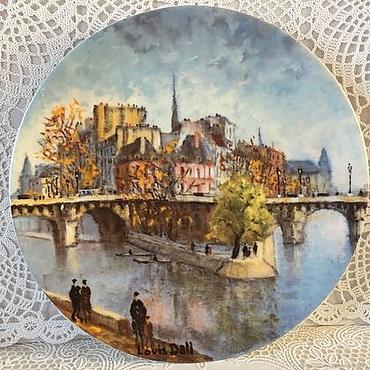 Винтаж ручной работы. Ярмарка Мастеров - ручная работа Винтаж: Париж 6 Тарелка Лимож Limoges Франция. Handmade.
