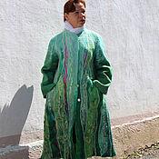 """Одежда ручной работы. Ярмарка Мастеров - ручная работа Пальто валяное осеннее """"Малахит"""". Handmade."""