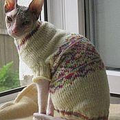 Зоотовары handmade. Livemaster - original item Sweaters with drawings for animals(2 options in the photo). Handmade.