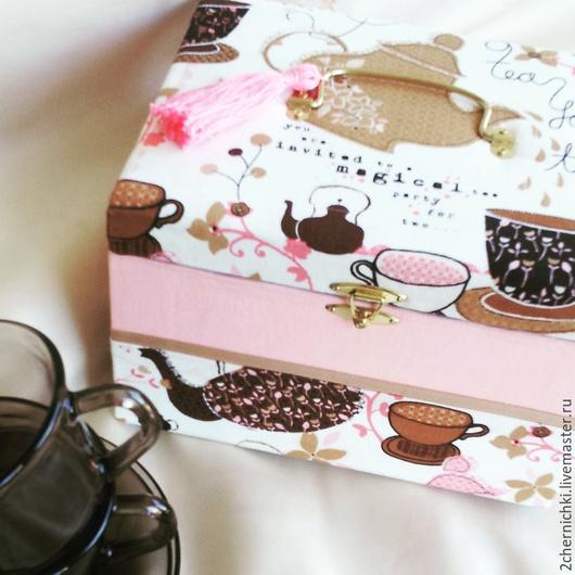"""Кухня ручной работы. Ярмарка Мастеров - ручная работа. Купить Чайная коробочка """"Летние вечера"""". Handmade. Разноцветный, коробочка, картон"""