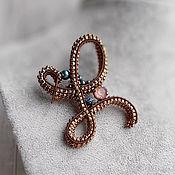 Украшения handmade. Livemaster - original item Brooch pin: letter L. Handmade.