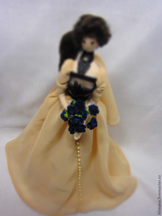 Коллекционные куклы ручной работы. Ярмарка Мастеров - ручная работа. Купить кукла Тряпиенс - Бежевая нежность. Handmade. Тряпиенс, шифон