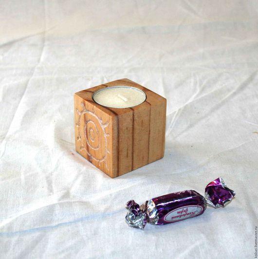 Подсвечники ручной работы. Ярмарка Мастеров - ручная работа. Купить подсвечники деревянные ексклюзив. Handmade. Золотой, дерево