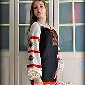 Одежда handmade. Livemaster - original item Shirt tunic linen with embroidery Charovnitsa. Handmade.