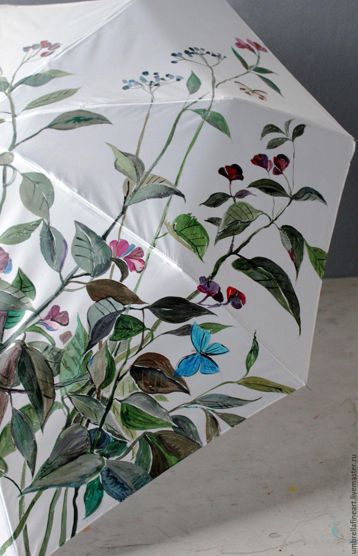Mechanical folding umbrella, 'Field flowers and butterflies', Umbrellas, St. Petersburg,  Фото №1