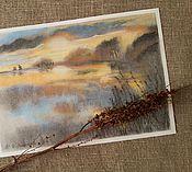 Картины и панно ручной работы. Ярмарка Мастеров - ручная работа Картина пастелью Утро туманное. Handmade.