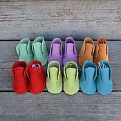Материалы для творчества ручной работы. Ярмарка Мастеров - ручная работа Обувь для кукол 6 см. Handmade.